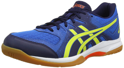 Asics Gel Rocket 9 Non Marking Badminton Shoes, Electric Blue/ Sour Yuzu - Best Price online Prokicksports.com