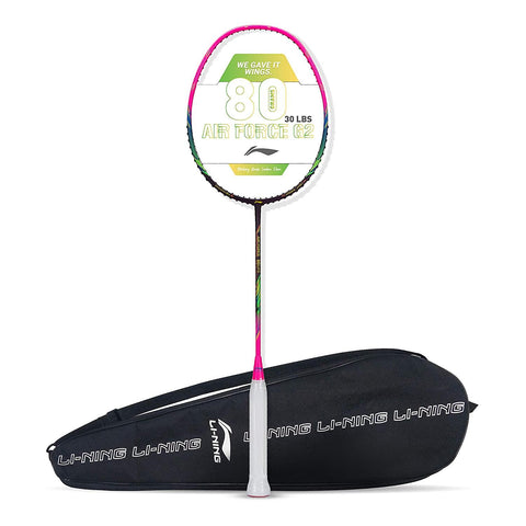 Li-Ning Air Force 80 G2 Carbon Fibre Badminton Racket with Free Full Cover Dark Purple/Pink - Best Price online Prokicksports.com