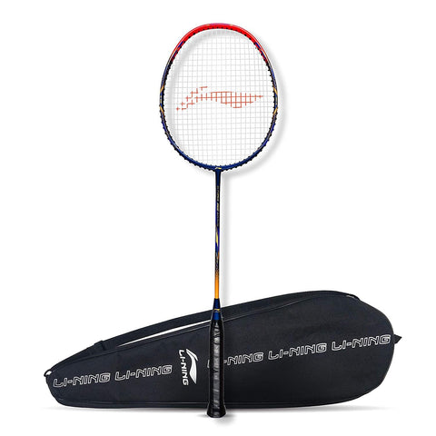 Li-Ning G-Force Superlite 3500 Strung Badminton Racquet Navy/Red - Best Price online Prokicksports.com