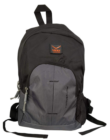 Vicky Backpack (Rubber Logo), Black/Grey - Prokicksports.com