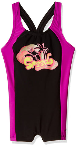 Speedo Girls Swimwear Cayla Legsuit (Black and Diva) - Best Price online Prokicksports.com