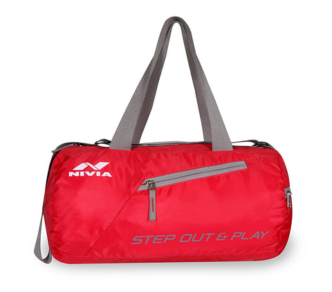 Nivia Deflate Polyester Round Bag, Adult (Red) - Best Price online Prokicksports.com