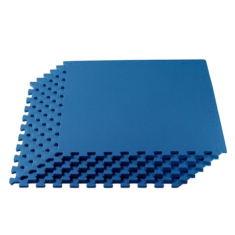 Prokick Exercise Mat with EVA Foam Interlocking - Blue - Best Price online Prokicksports.com