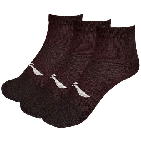 Li-Ning Cotton Men's Sports Socks, Ankle length, Pack of 3, Black - Best Price online Prokicksports.com