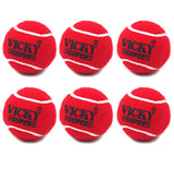 Vicky Cricket Tennis Ball - Super (Heavy), Maroon - Best Price online Prokicksports.com