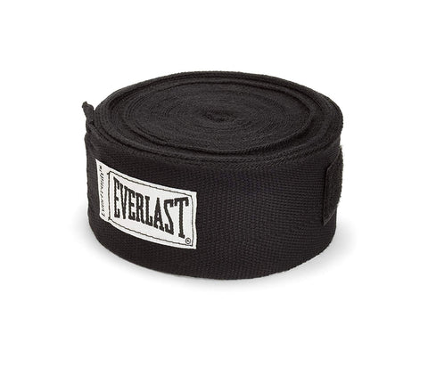 "Everlast 180"" Hand Wraps, 180-inches (Black) … - Best Price online Prokicksports.com"