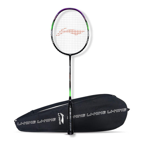 Li-Ning G-Force Superlite 3800 Strung Badminton Racquet Black/Purple - Best Price online Prokicksports.com