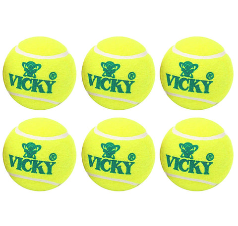 Vicky Cricket Tennis Ball, Light - Yellow - Best Price online Prokicksports.com
