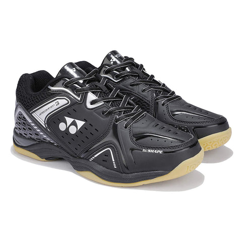 Yonex AEROCOMFORT 3 Non Marking Badminton Shoes Black Silver - Best Price online Prokicksports.com