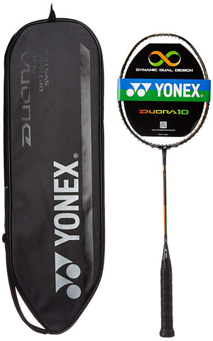 Yonex Duora 10 Badminton Racquet (Black/Orange) - Best Price online Prokicksports.com