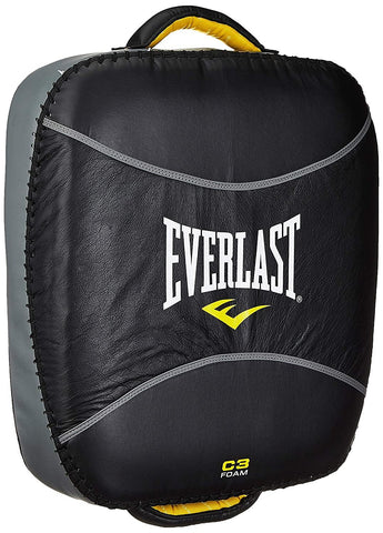 Everlast Boxing Pro Leg Kick Pad Black/Grey - Best Price online Prokicksports.com