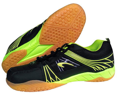 Proase Non-Marking Badminton Court Shoes, Black/Green - Best Price online Prokicksports.com