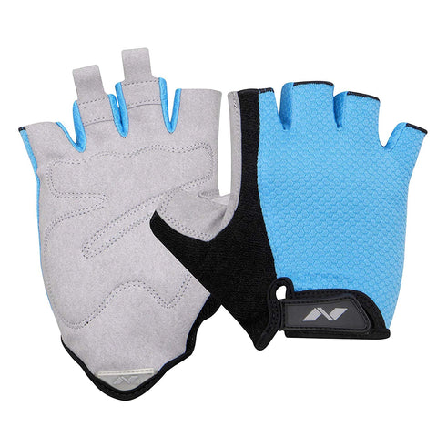 Nivia Python 885SB Sports Gloves (Sky Blue) - Best Price online Prokicksports.com