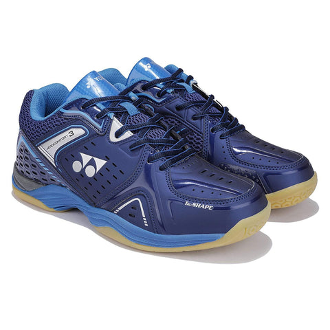 Yonex AEROCOMFORT 3 Non Marking Badminton Shoes Dark Navy Blue - Best Price online Prokicksports.com