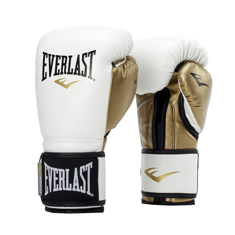 Everlast Women's Powerlock Hook/Loop Gloves, White/Gold - Best Price online Prokicksports.com