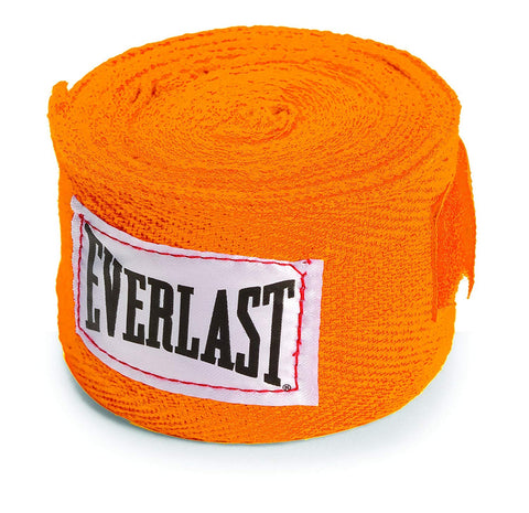 Everlast 4455ORN Hand Wrap, 2x120-inch (Orange) - Best Price online Prokicksports.com