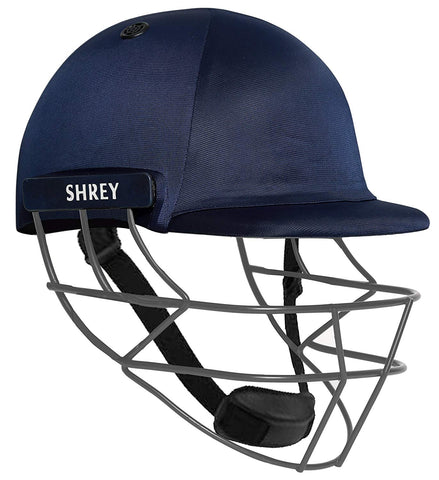 Shrey Performance Mild Steel Visor Cricket Helmet, Men's (Navy Blue) - Best Price online Prokicksports.com