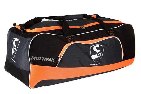 SG Multipak Cricket Kit Bag, Large (Orange/Black) - Prokicksports.com