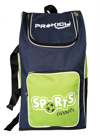 Prokick Sports Carrier Multi Utility Sports Bag - Ideal for kids (Green/Navy) - Best Price online Prokicksports.com