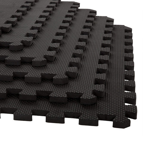 Prokick Exercise Mat with EVA Foam Interlocking - Black - Best Price online Prokicksports.com