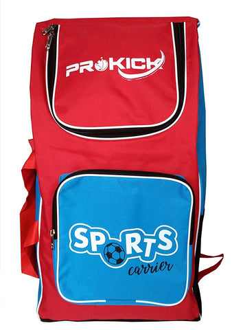 Prokick Sports Carrier Multi Utility Sports Bag - Ideal for kids (Red/Sky Blue) - Best Price online Prokicksports.com