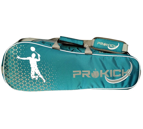 Prokick Badminton Kitbag with Double Zipper Compartments - Indigo - Best Price online Prokicksports.com