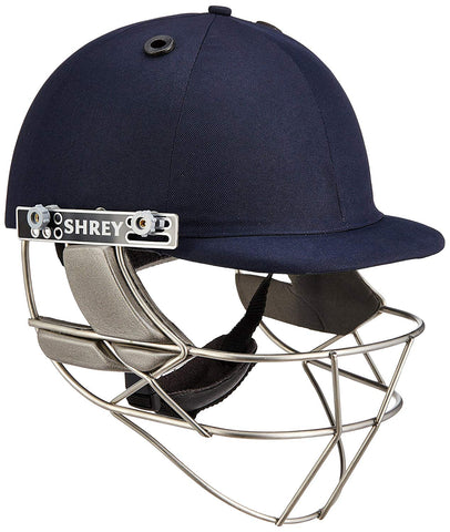 Shrey Master Class Stainless Steel Visor Cricket Helmet, Men's (Navy Blue) - Best Price online Prokicksports.com