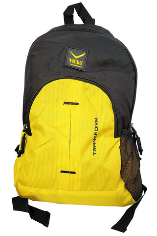 Vicky Backpack (Rubber Logo), Black/Yellow - Prokicksports.com