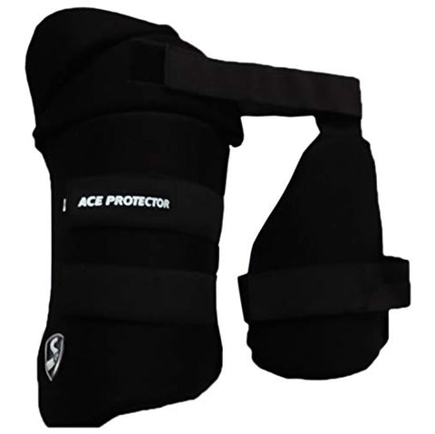 SG Ace Protector Black Thigh Pads Left Hand (Combo) - Best Price online Prokicksports.com