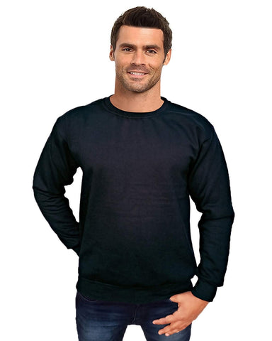 Prokick Men's Round Neck Sweatshirt - Black - Best Price online Prokicksports.com