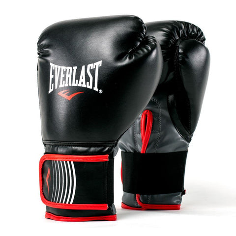 Everlast CORE Training Boxing Gloves, Black/Red - Best Price online Prokicksports.com