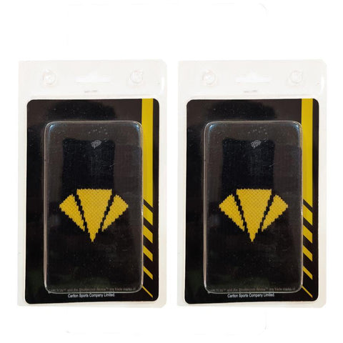 Carlton Wristband for Badminton and Multisports - Black/Yellow (Set of 2) - Best Price online Prokicksports.com