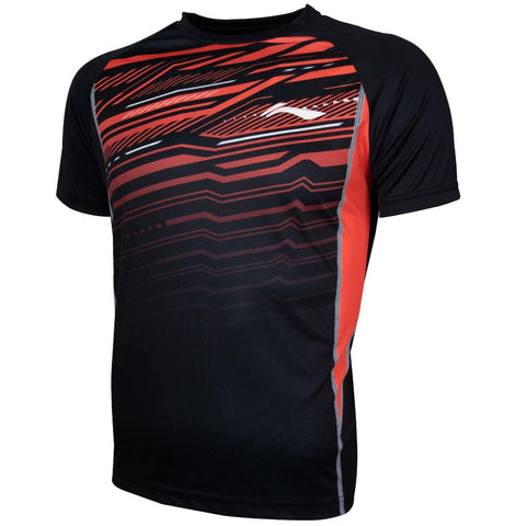 Li-Ning Turbo Dri Sweat Absorbent Badminton Tshirt, Black - Best Price online Prokicksports.com