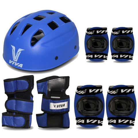 Viva 4 in 1 Protective Set for Skating and Cycling (Blue) - Best Price online Prokicksports.com
