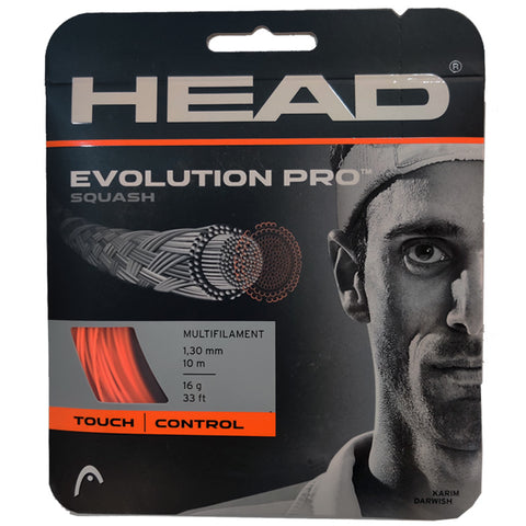 HEAD Evolution Pro Squash String 16L (Orange) - Best Price online Prokicksports.com