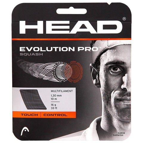 Head Evolution Pro Squash String 17L (Black) - Best Price online Prokicksports.com
