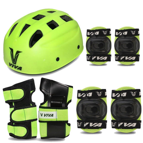 Viva 4 in 1 Protective Set for Skating and Cycling (Green) - Best Price online Prokicksports.com