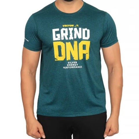 Vector X Silver-Energy-G Polyester Gym T-Shirts (Green) - Best Price online Prokicksports.com