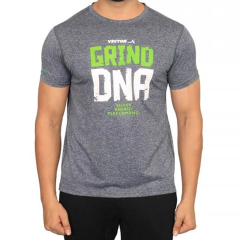 Vector X Silver-Energy-L Polyester Gym T-Shirt (Light Grey) - Best Price online Prokicksports.com