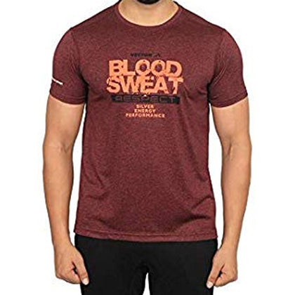 Vector X Silver-Energy-W Polyester Gym T-Shirts (Wine) - Best Price online Prokicksports.com