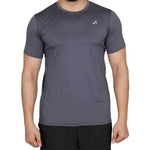 Vector X Sweat Control Men's Round Neck Compression Gym T-Shirt, Grey - Best Price online Prokicksports.com
