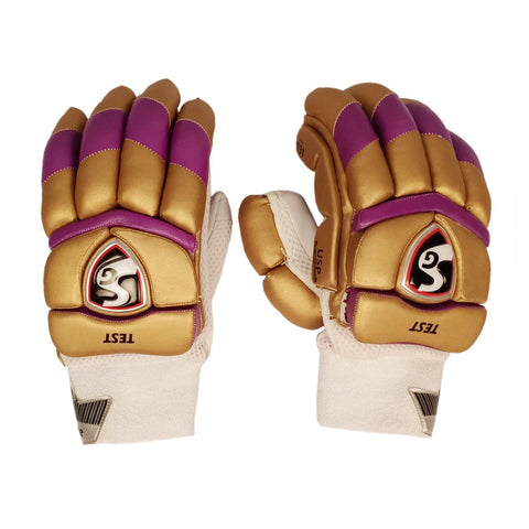 SG 2020 Edition Test Professional RH Batting Gloves - Gold/Purple (Kolkata) - Best Price online Prokicksports.com