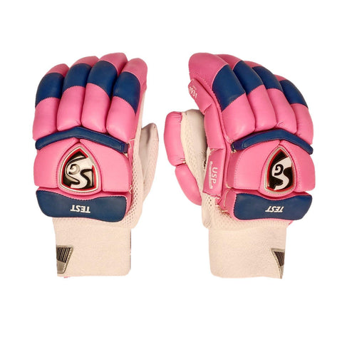 SG 2020 Edition Test Professional RH Batting Gloves - Pink/Blue (Rajasthan) - Best Price online Prokicksports.com