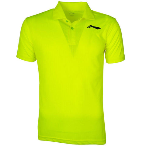 Li-Ning Training Polo Tshirt, Neon Lime/Black - Best Price online Prokicksports.com
