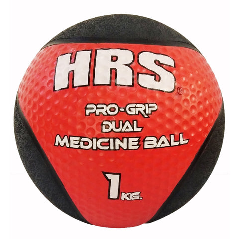HRS Rubber Medicine Ball, 1 kg (without handle), Red/Black - Best Price online Prokicksports.com