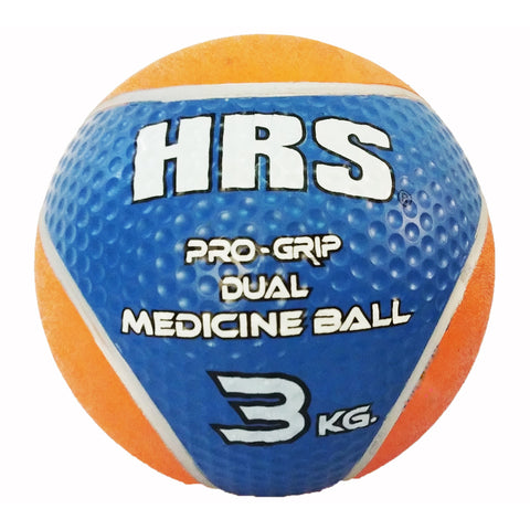 HRS Rubber Medicine Ball, 3 kg (without handle), Blue/Orange - Best Price online Prokicksports.com