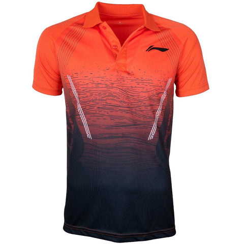 Li-Ning Active Polo Tshirt, Neon Orange - Best Price online Prokicksports.com