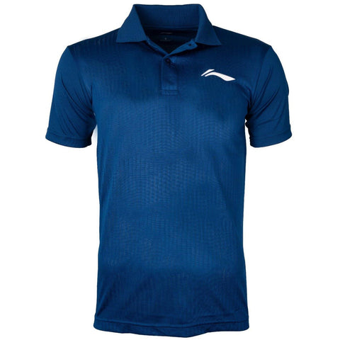Li-Ning Training Polo Tshirt, Navy/White - Best Price online Prokicksports.com