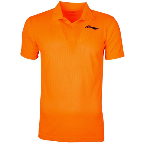 Li-Ning Training Polo Tshirt, Neon Orange/Black - Best Price online Prokicksports.com