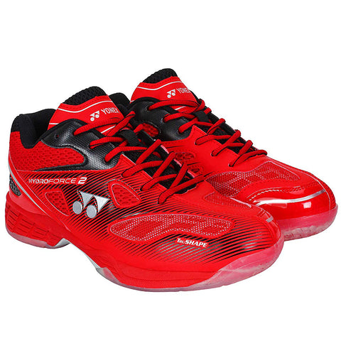 Yonex Hydro Force II Non Marking Badminton Court Shoes, Red/Black - Best Price online Prokicksports.com